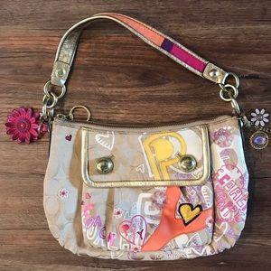 Coach Poppy Graffiti appliqué groovy handbag 15040
